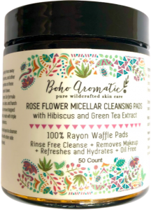Boho Aromatic, Rose Micellar Cleansing Pads